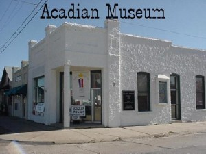 The Acadian Museum in Erath, Louisiana is housed in the old Bank of Erath structure. Photo below was taken during the Erath Centennial Celebration in 1999.  Hurricane Rita and Hurricane Ike both brought flood water into the Museum.